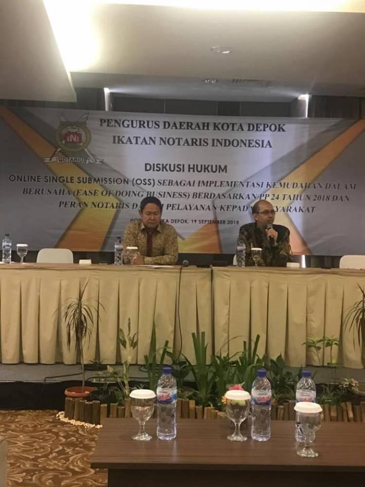 Diskusi Hukum Online Single Submission (OSS) Sebagai Implementasi Kemudahan Dalam Berusaha